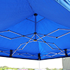 Compact pop up gazebo roof